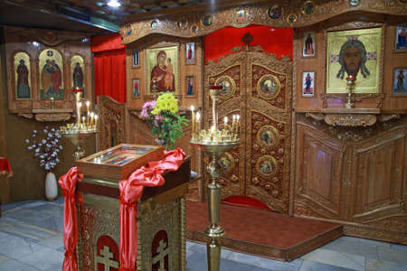 Orthodox iconostasis, interior of an Orthodox church