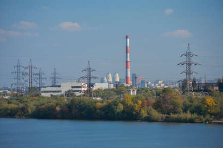 Dnepropetrovsk, industrial part of the city, cityscape