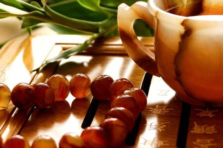 carnelian:   tea ceremony Stock Photo