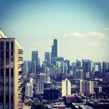 willis: Willis Tower on a sunny afternoon