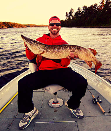 northern pike: 44.5 inch northern pike 22 pounds