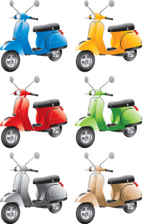 mopeds: Generic Scooters Illustration
