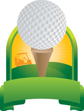 Golf ball on tee Illustration
