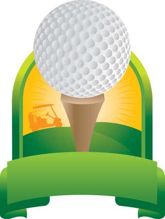 Golf ball op tee