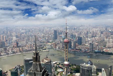 aerial view of shanghai Editorial