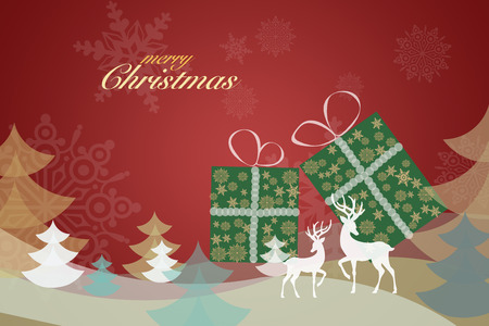 illustration of Merry Christmas background Stock fotó