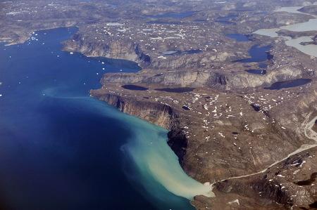 Glacier melting in Greenland