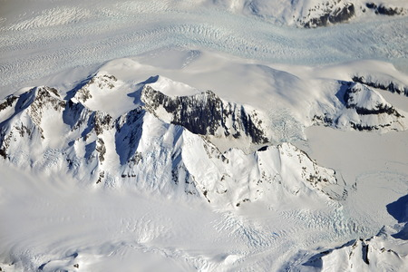 A look at Greenland through the airplane window