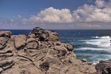 Solidlava on the island of Maui.Hawaii, USA.