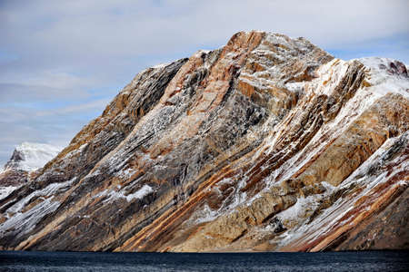Drifting icebergs. Global warming. Climate change. Antarctica, Arctic. Greenland Stock Photo