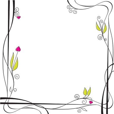 congratulations card: Floral background