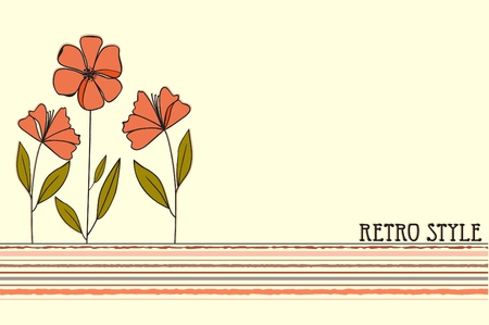 birth day: Floral background