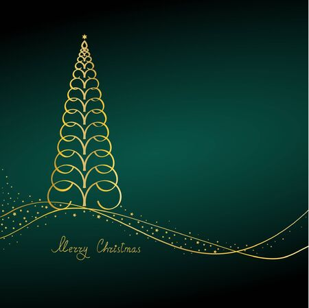 Christmas tree on green background Stock Vector - 10530764