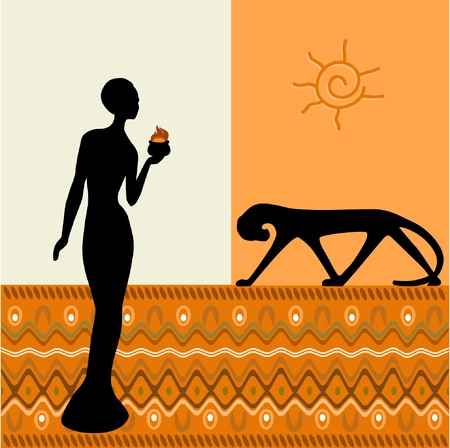 africa sunset: Africa
