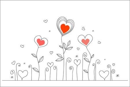 Tarjeta de amor de mano