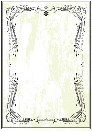 art nouveau: Art Nouveau frame, vintage style Illustration