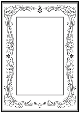 Art Nouveau frame, vintage style Illusztráció