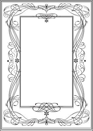 stile liberty: Art Nouveau frame, stile vintage Vettoriali