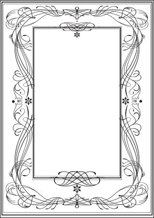 Art Nouveau frame, vintage style Vector