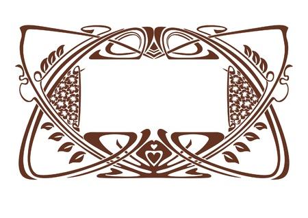 art nouveau design: Art Nouveau frame, vintage style Illustration