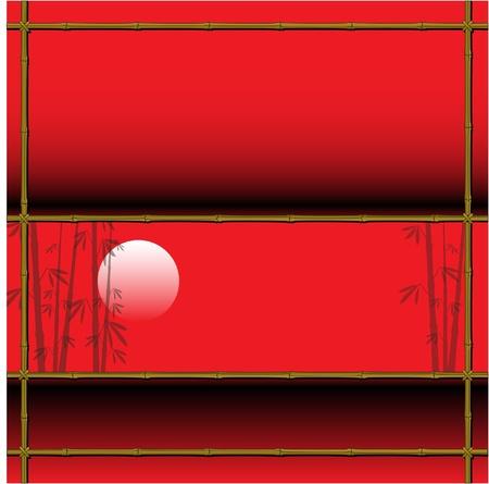 sun rising: Bamboo design
