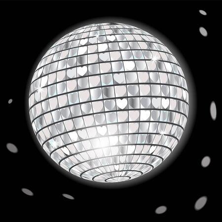 reflejo en espejo: Bola de discoteca Vectores
