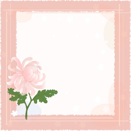 Backgrounds with chrysanthemum and copy-space for text Vector