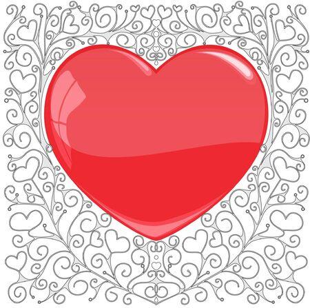 favourites: The heart Illustration