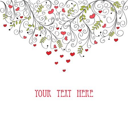 hand drawn: Valentine Design Illustration