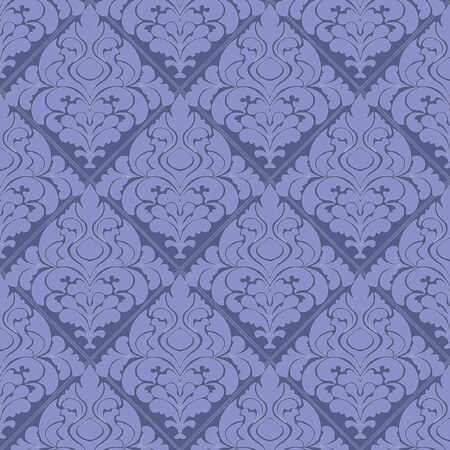 Abstract vector damask background for design use Vector