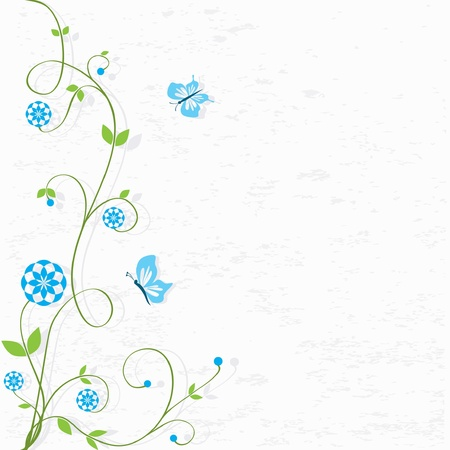 Decorative Flowers Illustration