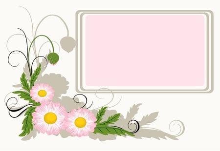 Floral background with copy-space for text Vector