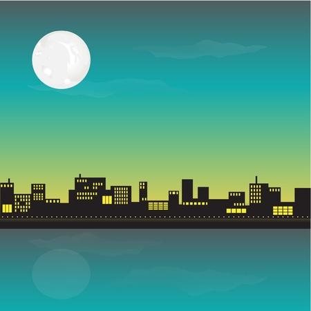 City landscape illustration Illustration