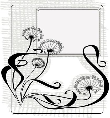 clip art draw: Vintage dandelions