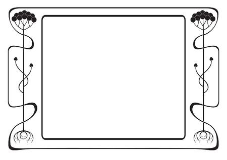 Art Nouveau frame, vintage style Stock Vector - 10601787
