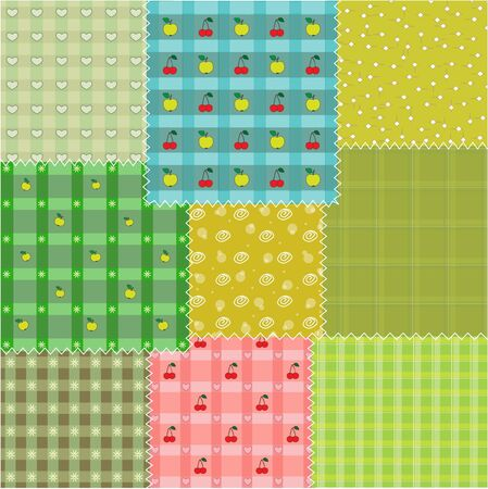 pastel colored: Patchwork background