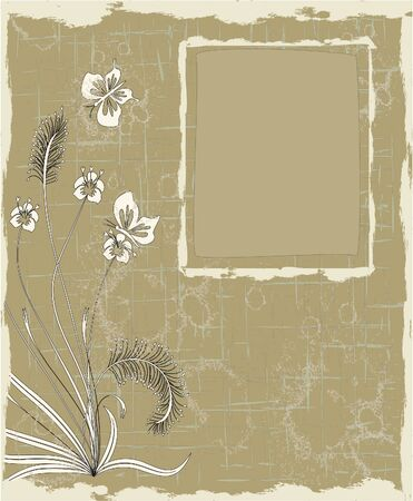 ベクトル、テキストの copyspace 抽象的なフローラル背景  イラスト・ベクター素材