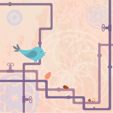 water pipes: The Bird Illustration