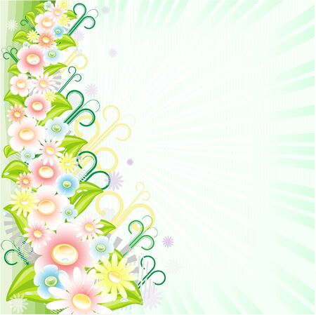 Spring background. Abstract vector illustration