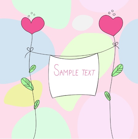 baby shower party: Vector Card