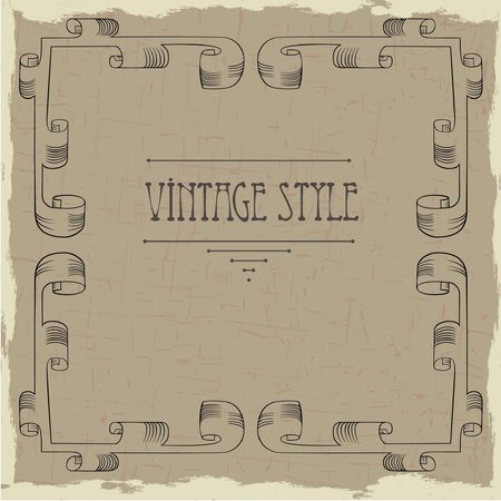 Vintage frame Stock Vector - 10586406