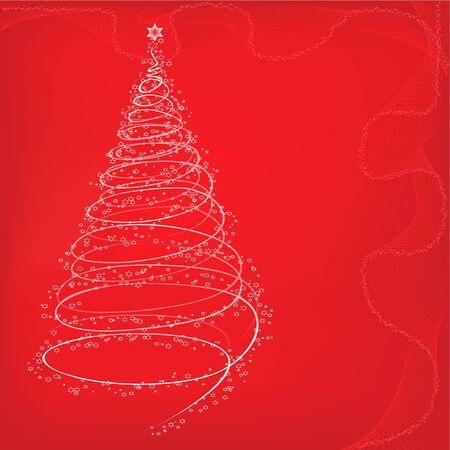 Xmas tree background Stock Vector - 10553584