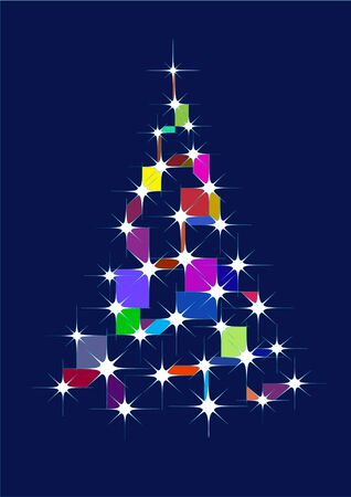 Xmas tree background Vector