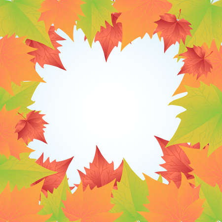 gum tree: Computer generated background with autumn leaves