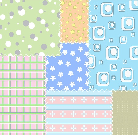 pale colors: Patchwork background