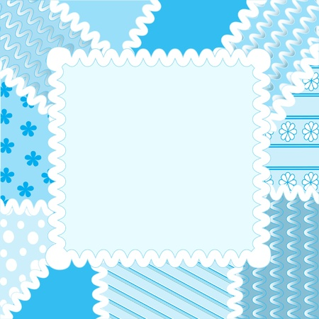 Patchwork frame Vector
