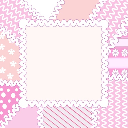 pastel colored: Patchwork frame
