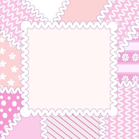 gingham pattern: Patchwork frame