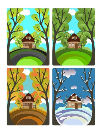 Four seasons Stock Vector - 10965765