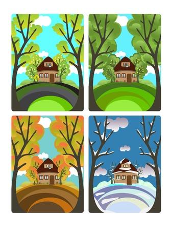 Four seasons Stock Vector - 10965765